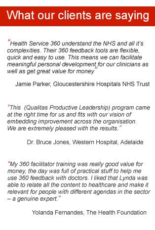 Health Service 360 testimonials